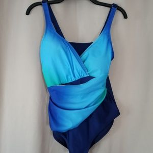 Beautiful Shades of Blue SwimSuit. Size Medium